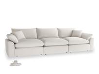 Large Cuddlemuffin Modular sofa in Chalk clever cotton