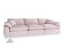 Large Cuddlemuffin Modular sofa in Dusky blossom washed cotton linen