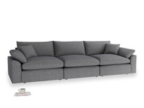 Large Cuddlemuffin Modular sofa in Strong grey clever woolly fabric
