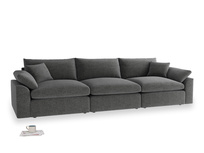 Large Cuddlemuffin Modular sofa in Shadow Grey wool