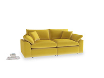 Medium Cuddlemuffin Modular sofa in Bumblebee clever velvet