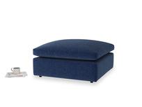 Cuddlemuffin Footstool in Ink Blue wool