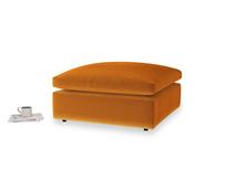 Cuddlemuffin Footstool in Spiced Orange clever velvet