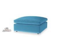 Cuddlemuffin Footstool in Teal Blue plush velvet