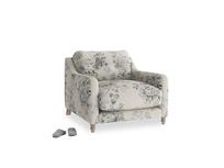 Slim Jim Armchair in Dusty Blue vintage rose