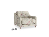 Slim Jim Armchair in Pink vintage rose