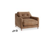 Slim Jim Armchair in Walnut beaten leather