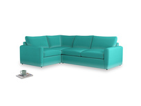 Large left hand Chatnap modular corner sofa bed in Fiji Clever Velvet with both arms