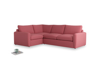 Large left hand Chatnap modular corner sofa bed in Raspberry brushed cotton with both arms