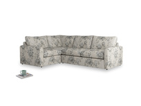 Large left hand Chatnap modular corner storage sofa in Dusty Blue vintage rose with both arms