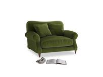 Crumpet Love seat in Good green Clever Deep Velvet