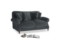 Small Crumpet Sofa in Dark grey Clever Deep Velvet