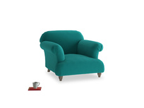 Soufflé Armchair in Indian green Brushed Cotton