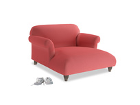 Soufflé Love Seat Chaise in Carnival Clever Deep Velvet