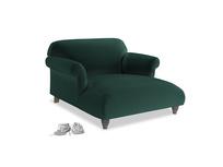 Soufflé Love Seat Chaise in Dark green Clever Velvet