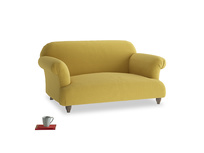 Small Soufflé Sofa in Maize yellow Brushed Cotton