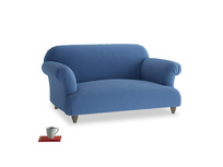 Small Soufflé Sofa in English blue Brushed Cotton