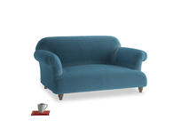 Small Soufflé Sofa in Old blue Clever Deep Velvet