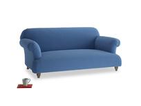 Medium Soufflé Sofa in English blue Brushed Cotton