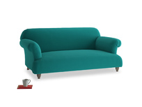 Medium Soufflé Sofa in Indian green Brushed Cotton
