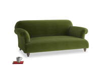 Medium Soufflé Sofa in Good green Clever Deep Velvet