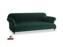 Large Soufflé Sofa in Dark green Clever Velvet