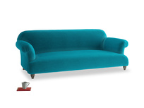 Large Soufflé Sofa in Pacific Clever Velvet