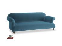 Large Soufflé Sofa in Old blue Clever Deep Velvet