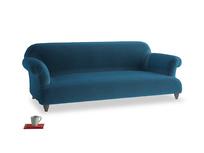 Large Soufflé Sofa in Twilight blue Clever Deep Velvet