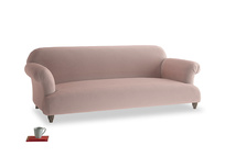 Large Soufflé Sofa in Rose quartz Clever Deep Velvet
