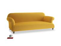 Large Soufflé Sofa in Pollen Clever Deep Velvet