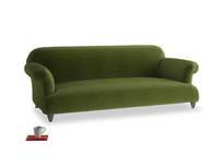Large Soufflé Sofa in Good green Clever Deep Velvet