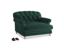 Truffle Love seat in Dark green Clever Velvet