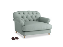 Truffle Love seat in Sea fog Clever Woolly Fabric