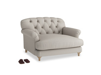 Truffle Love seat in Sailcloth grey Clever Woolly Fabric