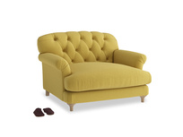 Truffle Love seat in Maize yellow Brushed Cotton