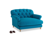 Truffle Love seat in Bermuda Brushed Cotton