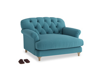 Truffle Love seat in Lido Brushed Cotton