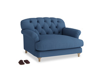 Truffle Love seat in True blue Clever Linen