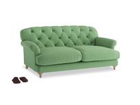 Medium Truffle Sofa in Clean green Brushed Cotton