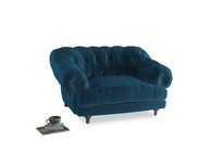 Bagsie Love Seat in Twilight blue Clever Deep Velvet