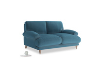 Small Slowcoach Sofa in Old blue Clever Deep Velvet