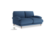Small Slowcoach Sofa in True blue Clever Linen