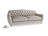 Large Butterbump Sofa in Sailcloth grey Clever Woolly Fabric