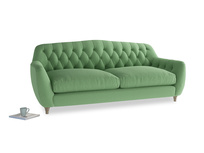 Large Butterbump Sofa in Clean green Brushed Cotton