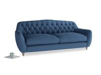 Large Butterbump Sofa in True blue Clever Linen
