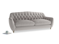 Large Butterbump Sofa in Mouse grey Clever Deep Velvet