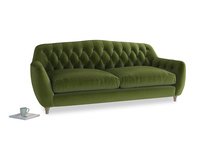 Large Butterbump Sofa in Good green Clever Deep Velvet