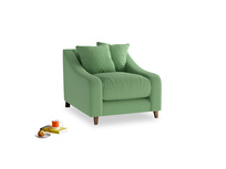 Oscar Armchair in Clean green Brushed Cotton