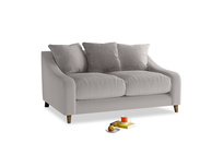 Small Oscar Sofa in Mouse grey Clever Deep Velvet